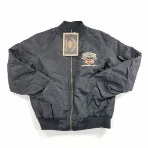 Harley Davidson Powertrain Bomber Jacket Coat